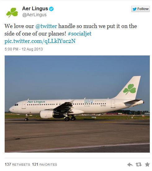 Twitter Aer Lingus