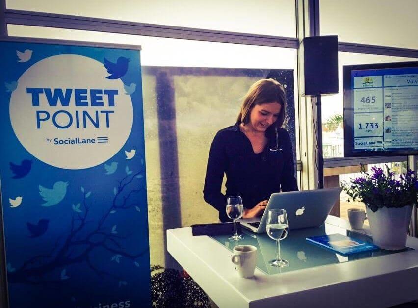 social media tijdens evenement